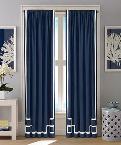Awesome Nautica® Captain Blue Ribbon Appliqué Curtain Panel   Set Of Two