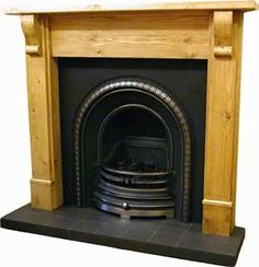 Victorian Fireplace Company, London UK - Oak Victorian Wooden Fireplace Surround Mantel
