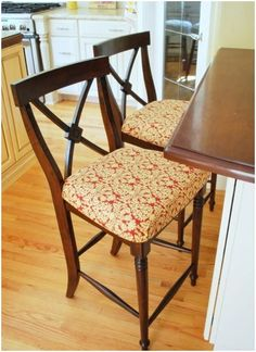 DIY Barstool seats I want to add fabric covered seats to my barstools