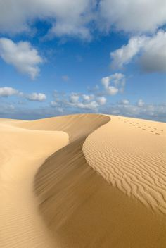 Boa Vista sand dunes by the sea Cape Verde Beach, West Africa Cape Verde Hotels, Places To Travel, Places To See, Places Around The World, Around The Worlds, Cap Vert, Verde Island, Le Cap, Destinations