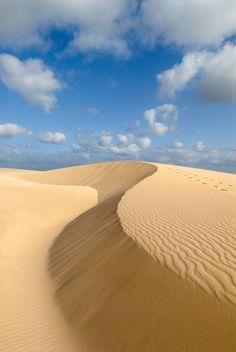 Boa Vista sand dunes by the sea Cape Verde Beach