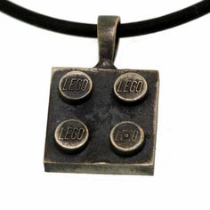 Lego Pendant  Antiqued Sterling Silver  Hand Made  by UBrickIt, $39.00