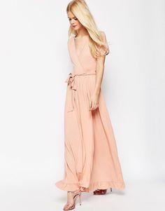 Image 1 ofASOS Maxi Tea Dress With Wrap Front