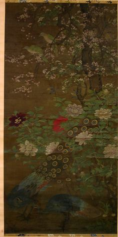 Birds and Flowers Unidentified Artist Artist: Formerly Attributed to Huang Qüan (Chinese, active ca. 950) Period: Ming (1368–1644) or Qing dynasty (1644–1911) Culture: China