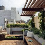 Wooden-rooftoop-garden-furniture
