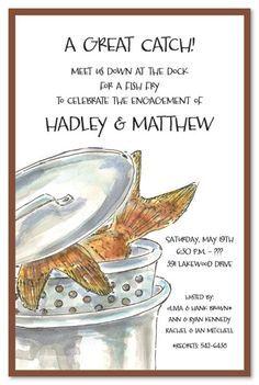 Fish Fry Rehearsal Dinner Card Details Wedding Pinterest