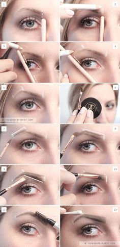 My New Perfect Brow Routine: Eyebrow Tutorial – Wonder Forest – Best Eyebrows Eyeliner, Eyebrow Makeup, False Eyebrows, Shape Eyebrows, Makeup Eyebrows, Pluck Eyebrows, How To Do Eyebrows, Eyebrow Grooming, Eyebrow Brush
