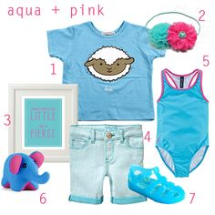 color story: aqua, with a hint of pink | cuteheads #kids #kidswear #toddler #kidsclothes #kidsfashion