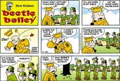 Beetle Bailey strip for December 2014 Old Comics, Short Comics, Vintage Comics, Beetle Bailey Comic, Mort Walker, Cartoons Magazine, Comics Kingdom, Comics Story, Funny Pictures