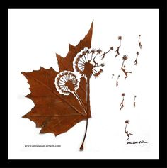 Omid Asadi is an Iranian artist who wishes to give a second life to leaves. He collects beautiful leaves, dries them, and turns the into art pieces cutting beautiful designs on them.