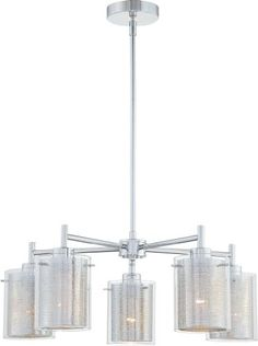 Kovacs P965 5 Light 1 Tier Chandelier from the Grid Ii Collection, Chrome Kovacs http://www.amazon.com/dp/B004L6MQK6/ref=cm_sw_r_pi_dp_fUibub17W712R