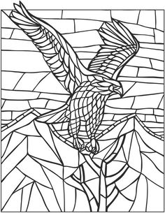 Eagle mosaic coloring