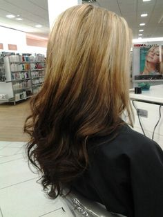 Reverse Umbre, stylish haircolor. Designed by, Jill Master Designer 2 Serving Houston, Woodlands, Conroe. Ulta Woodlands location.