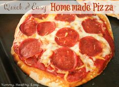 & Easy Homemade Pizzas - recipes for both whole wheat crust and pizza sauc. Quick & Easy Homemade Pizzas - recipes for both whole wheat crust and pizza sauc. - -Quick & Easy Homemade Pizzas - recipes for both whole wheat crust and pizza sauc. Deep Dish, Pizza Recipes, Healthy Recipes, Quick Recipes, Healthy Foods, Dinner Recipes, Healthy Eating, Cooking Recipes, Making Homemade Pizza