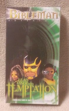 BIBLEMAN ADVENTURES Lead Us Not Into Temptation VHS Video Christian Series NEW