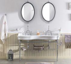 1000 id es sur lavabos de salle de bain r tro sur pinterest vanit s de sall - Lavabo double vasque retro ...