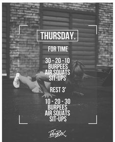 Need a no-equipment workout? Hiit Workout Routine, Wod Workout, Crossfit Workout Program, Crossfit Workouts At Home, Full Body Workout Plan, Cardio Training, Kettlebell, Excercise, Workout Programs