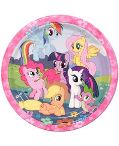 My Little Pony Friendship Lunch Plates