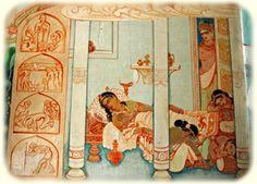 Siddhartha leaves after Rahula's birth Buddha, Vintage World Maps, Birth, Blog, Painting, Leaves, Home Decor, Decoration Home, Room Decor