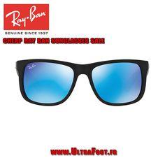 Pas cher Ray-Ban Lunettes de soleil JUSTIN RB4165 54 EN MIROIR Miroir Noir  Vert b2cdfdee66bf