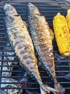 Makreel van de BBQ