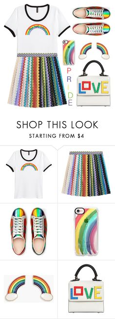 """Pride Month"" by arohii ❤ liked on Polyvore featuring H&M, Missoni, Gucci, Casetify, Boohoo, Les Petits Joueurs and pride"
