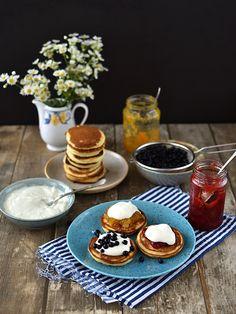 Kefírové lívance Kefir, Sweet Life, Crepes, Pancakes, Sweet Treats, Cooking, Breakfast, Tree Stump, Recipe Ideas