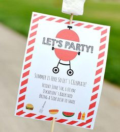 Printable Invitations for a Summer Party | Fire up that barbecue and send out these DIY invitations.