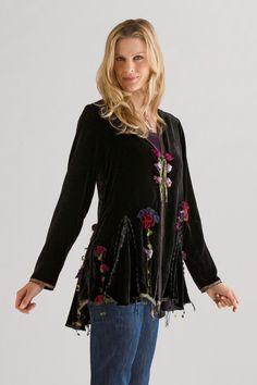 Velvet Canterbury Bells Jacket: Giselle Shepatin: Velvet Jacket | Artful Home