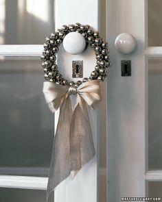 Mini jingle bell wreath!