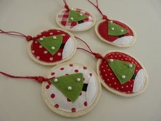 felt and fabric Christmas ornaments