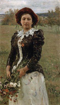 Ilya Repin - Autumn Bouquet (Portrait of Vera Repina) 1892