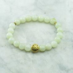 Happiness Mala Bracelet Jade Mala Beads with Knot 21 mala beads for happiness, health, abundance and joy. on Etsy, $20.00