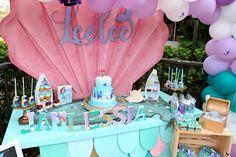 The Little Mermaid Birthday Party Ideas First Birthday Girl Mermaid, Birthday Fun, Birthday Ideas, Birthday Parties, Little Mermaid Decorations, Girl Superhero Party, Mermaid Photos, Mermaid Baby Showers, Mermaid Cakes