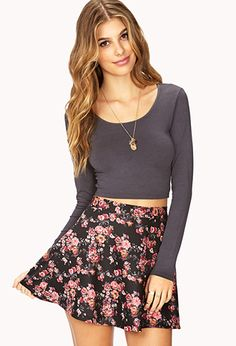 Long Sleeve Crop Top | FOREVER21 - 2000110011