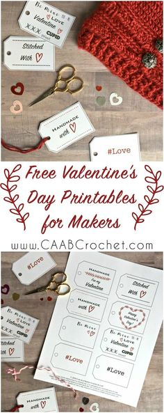 Free Valentine's Day Printables for makers | Gift Tags | Coffee Cozy Holder