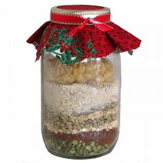 Recipe for Mason Jar Soup Mix - 12 Holiday Food Gift Recipes - Shape Magazine Jar Food Gifts, Fruit Basket Delivery, Mason Jar Mixes, Soup In A Jar, Pots, Christmas Crafts For Gifts, Christmas 2016, Homemade Christmas, Christmas Presents