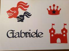 Knight table mat - Tovaglietta dei personalizzata per bambino - tema cavalieri