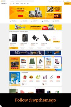 eMarket is the best multi vendor marketplace WordPress theme chosen as featured item by Envato Team. Also, as a Power Elite Author with over 11+ years of experience in Web Design, we develop this theme as a key item with beautiful, unique and professional design for all ecommerce website. #emarket #multivendor #marketplace #wordpresstheme #bestwordpressthemes #bestwoocommercethemes #elementor #revolutionslider #wpthemego #dokan #wcvendors #wcfmmarketplace #wcmarketplace #vendors #deals Shopping Websites, Online Shopping Stores, Summer Beach Party, Ecommerce Web Design, Investment Firms, Best Wordpress Themes, Creative Business, Layout, Author