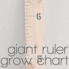 DIY Giant Ruler Growth Chart | crab+fish