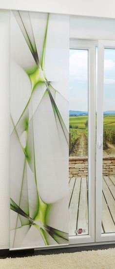 Fotogardinen Spring Schiebevorhang Schiebegardinen Vorhang Gardinen 3d Fotodruck Cheap Sales 50% Curtains, Drapes & Valances Window Treatments & Hardware