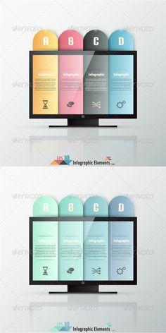 Modern Infographics Options Banner (Two Versions) Tempalte #design Download: http://graphicriver.net/item/modern-infographics-options-banner-two-versions/7291007?ref=ksioks