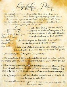 Storybrooke Live > Forgetfulness Potion Instructions (S1E10)