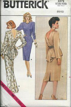 Butterick 4379 Misses Elegant Dress or by DawnsDesignBoutique