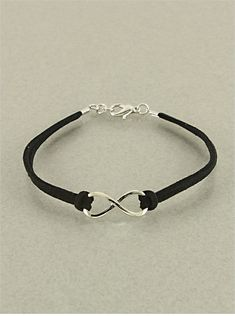 P.S. I Love You More Boutique | Black Infinity Leather Bracelet | Online Store Powered by Storenvy