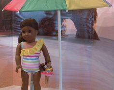 Sand Klappstuhl für amerikanisches Mädchen von MyGirlClothingCo