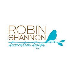 Logo Design : Robin Shannon Decorative Design : Synerge Marketing : design, interior, bird, blue