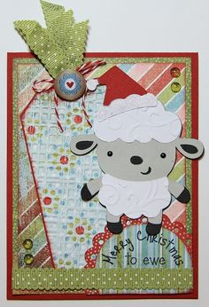 Snappy Scraps: Merry Christmas to EWE!! - love the tag in the back of this.