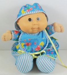 """Cabbage Patch Kids Love N Care Baby Doll Toddler Collection 12"""" 1992 NO BOTTLE"""