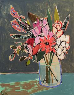 Lulie Wallace's Colorful Flower Paintings
